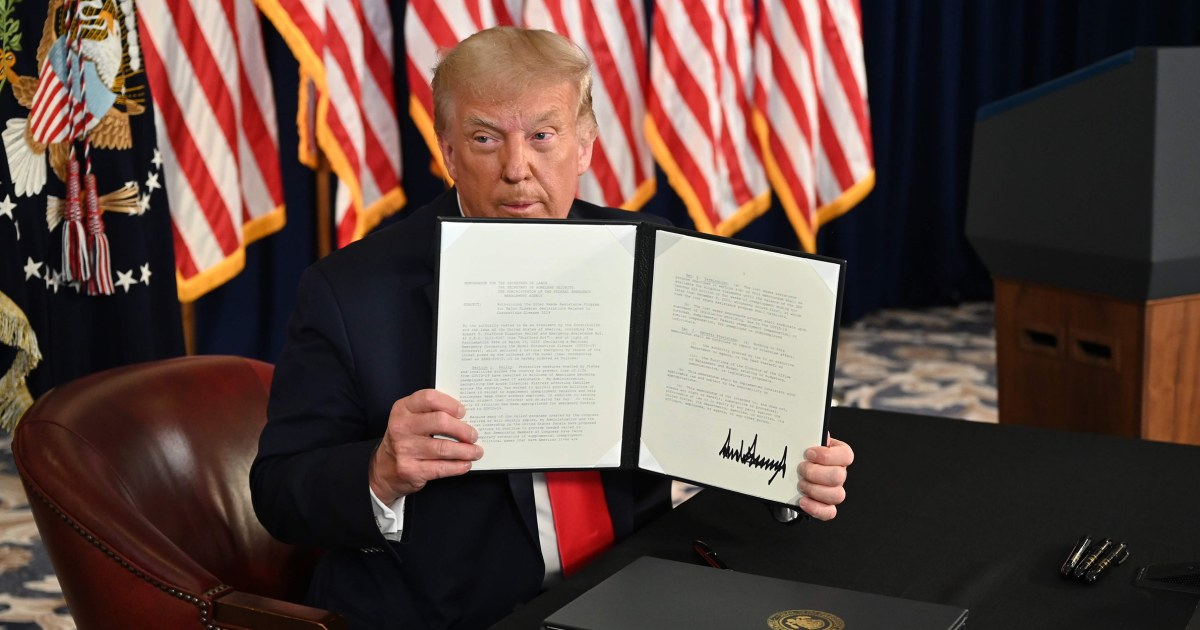 Trump's order on eviction protections unravels into 'nothing'
