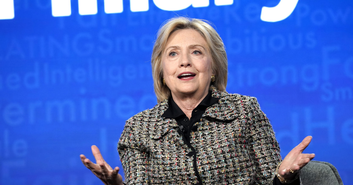 Hillary Clinton: Biden has 'great choices' for running mate to help defeat 'wannabe authoritarian' – NBC News