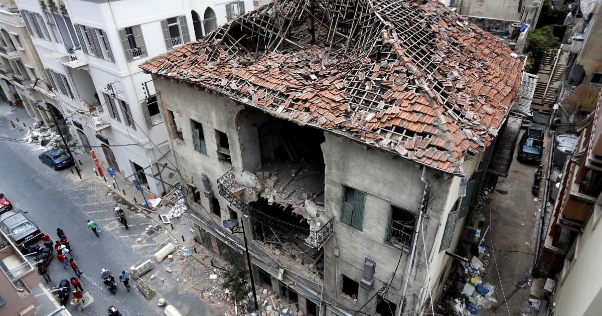 www.nbcnews.com: Historic Beirut buildings at risk of collapse after deadly explosion, United Nations warns