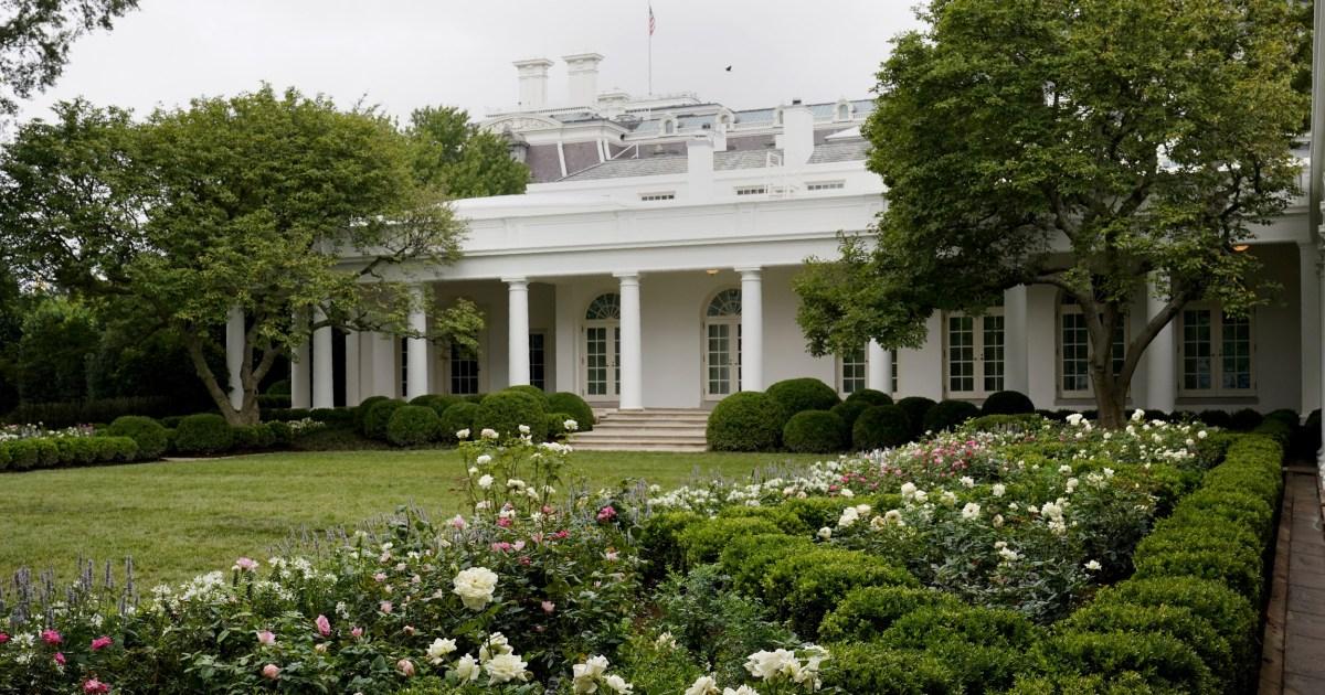 Spruced-up White House Rose Garden set for Melania Trump speech – NBC News