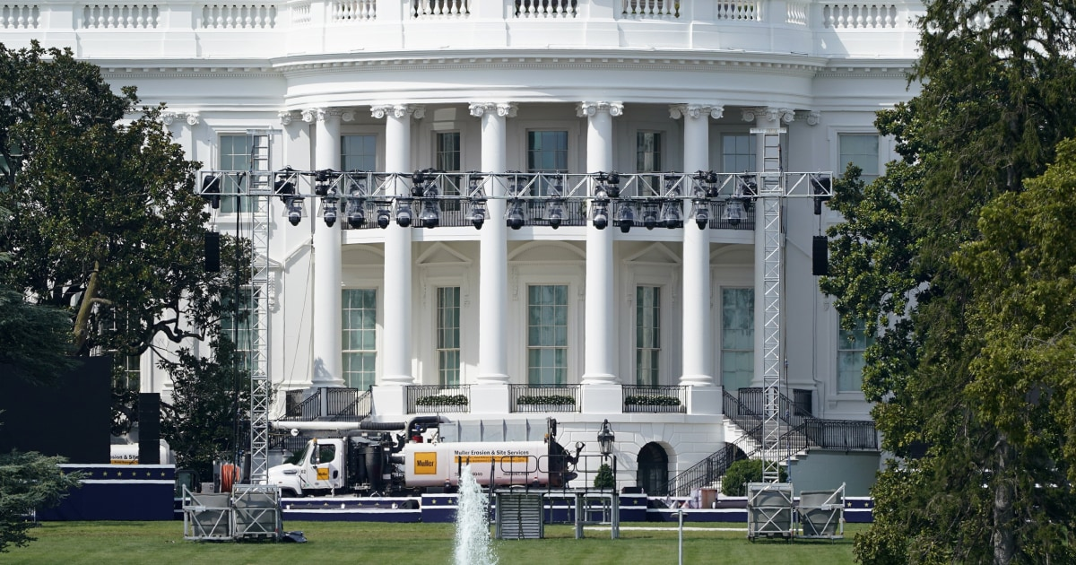 White House transforms from people's house to campaign venue – NBC News