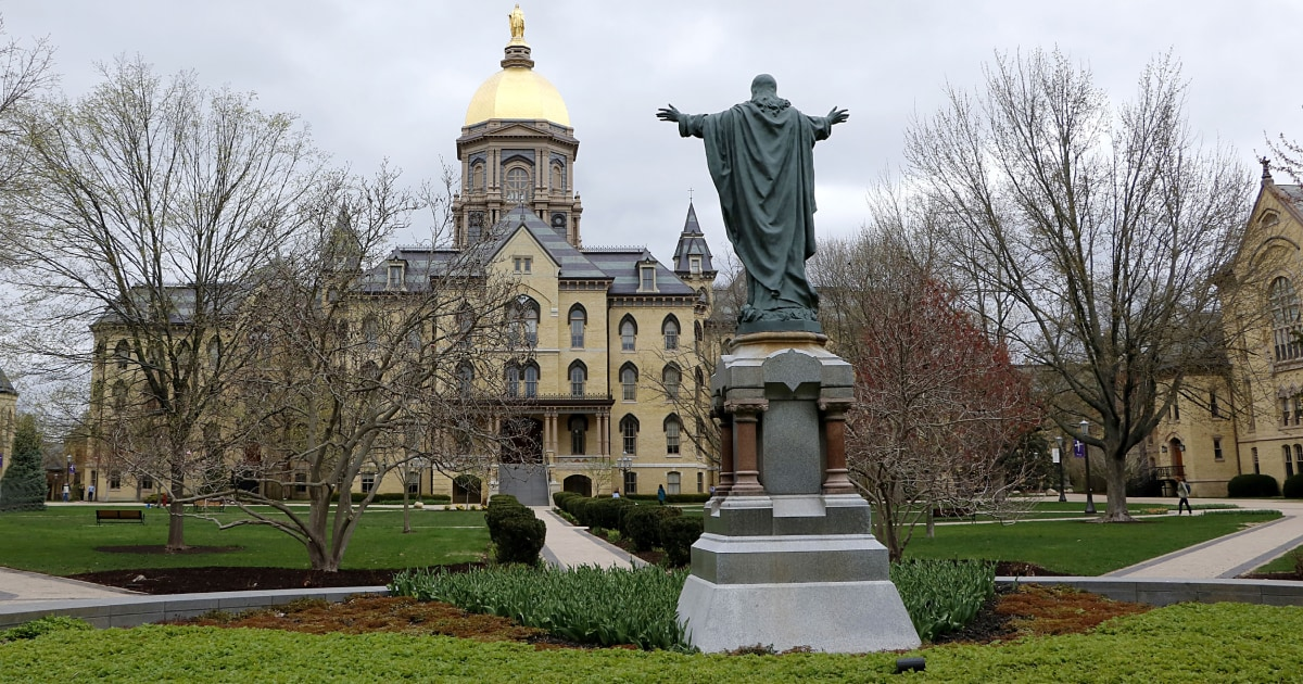 Notre Dame sending students back to class next week — even as new COVID-19 cases reported – NBC News