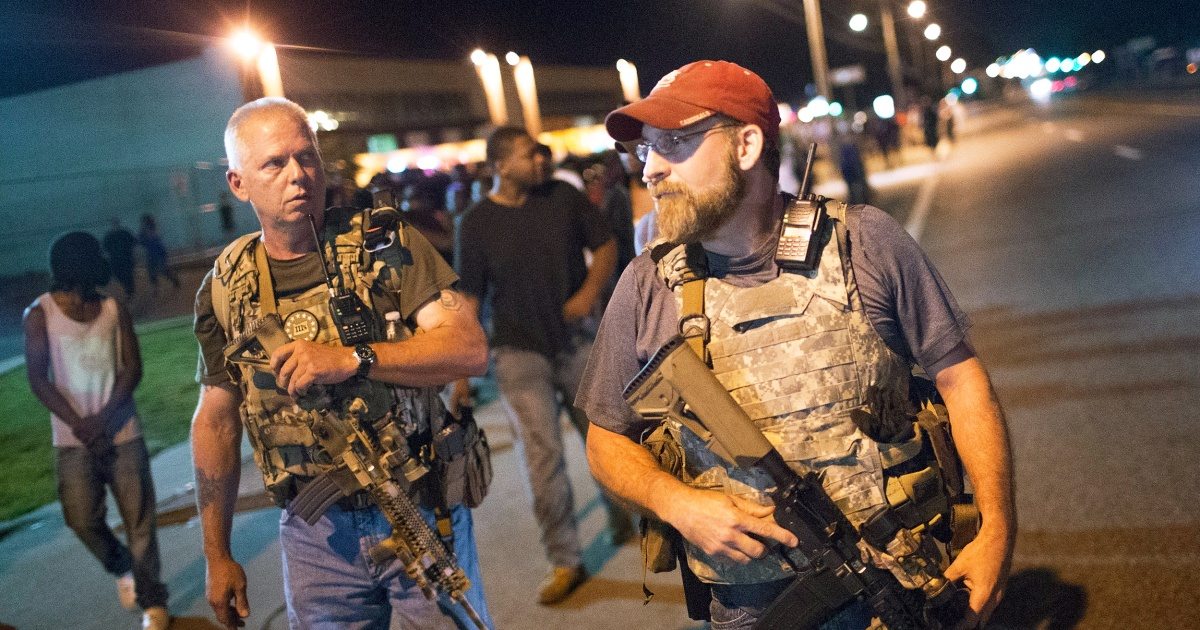 Where protesters go, armed militias, vigilantes likely to follow with little to stop them