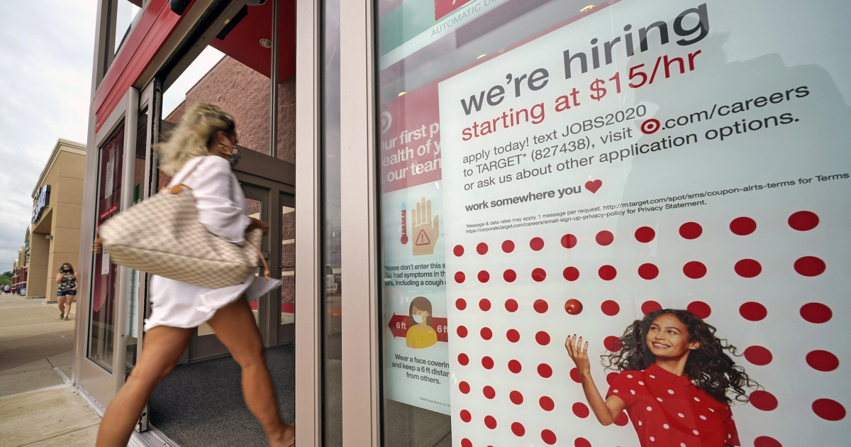U.S. economy gained 1.4 million jobs last month unemployment rate falls to 8.4 percent – NBC News