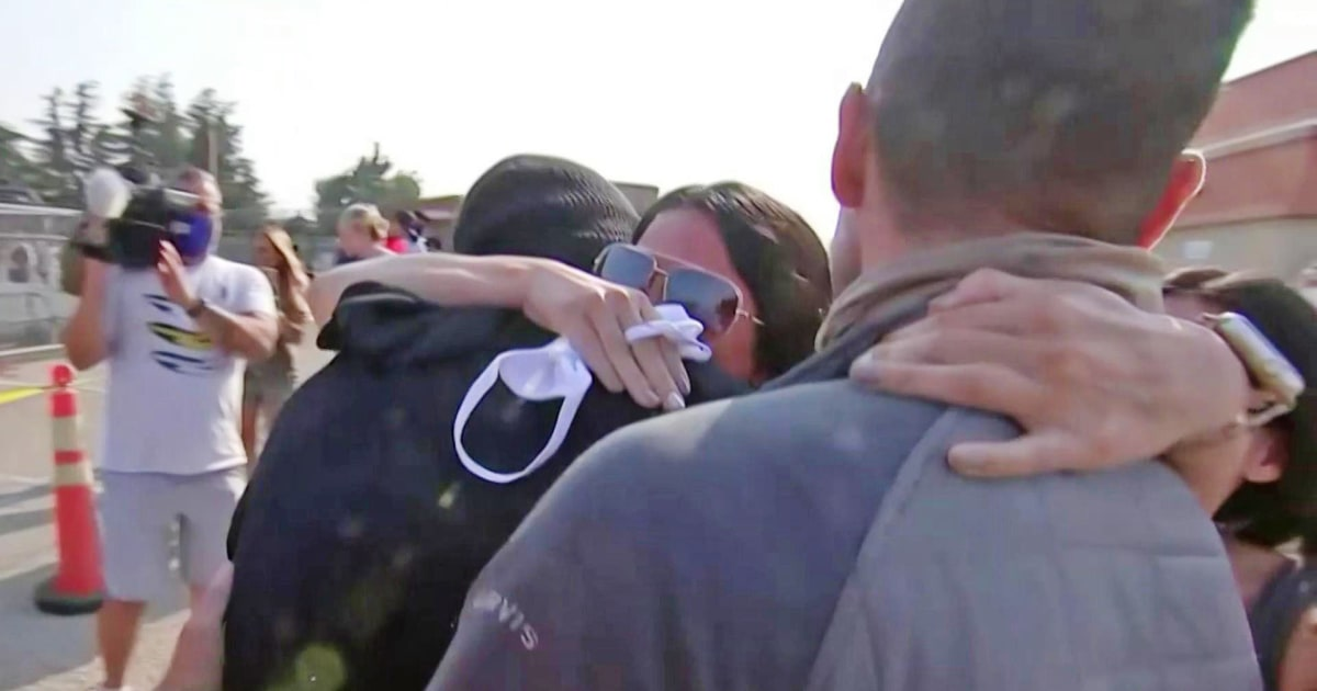 Family grateful after dad and two sons rescued from raging California wildfire