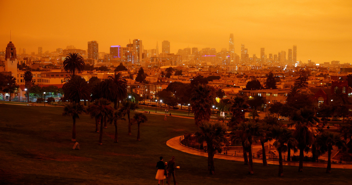 'Like a scene from Mars': Skies in parts of California turn orange as wildfires rage