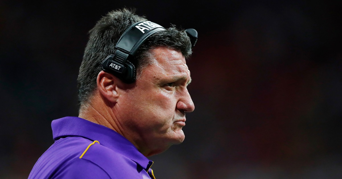 LSU football coach said 'most of our players have caught' coronavirus