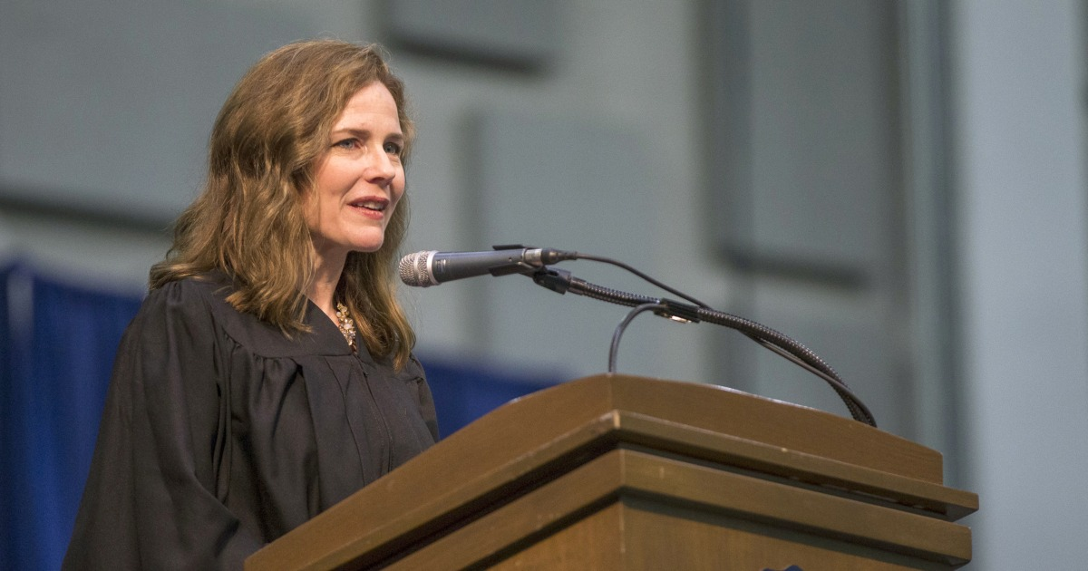 Amy Coney Barrett emerging as a front-runner to fill Ginsburg's Supreme Court seat – NBC News