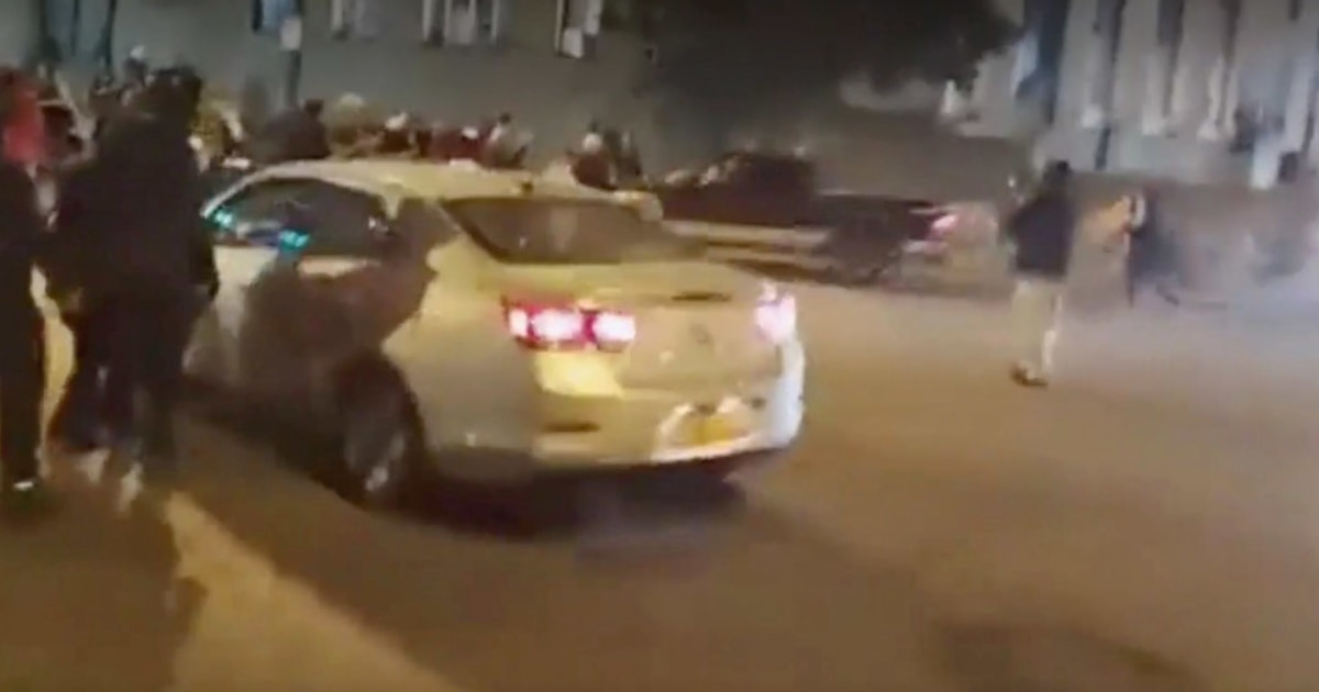 Video shows Buffalo protester on bicycle being struck by truck during demonstration
