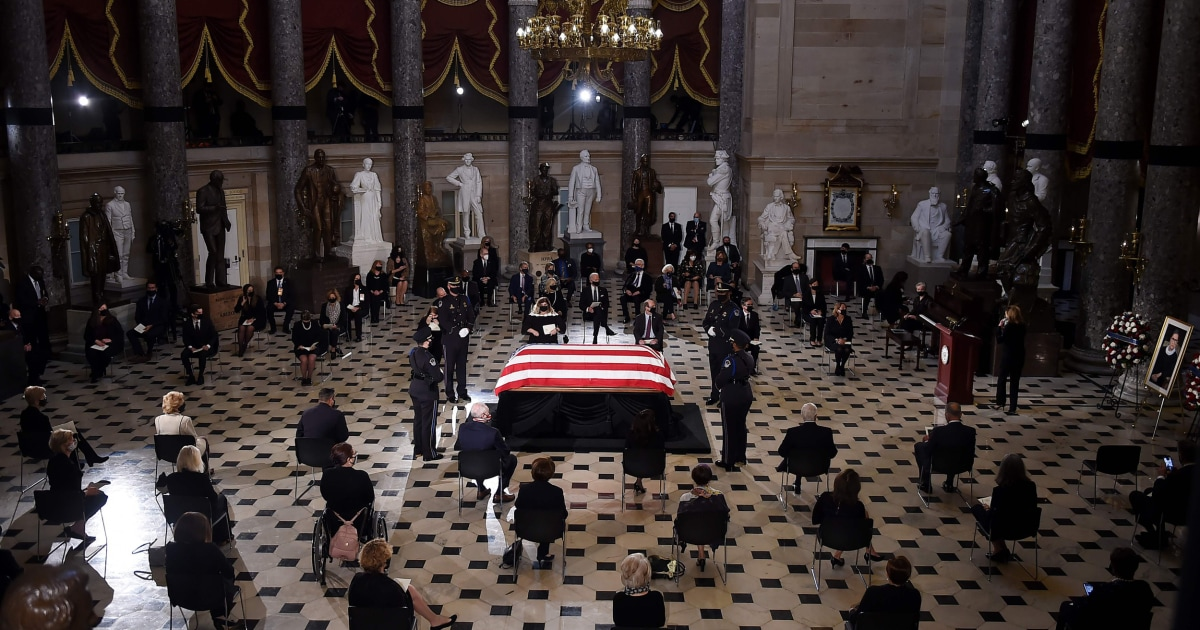 Justice Ginsburg becomes first woman to lie in state at the Capitol – NBC News