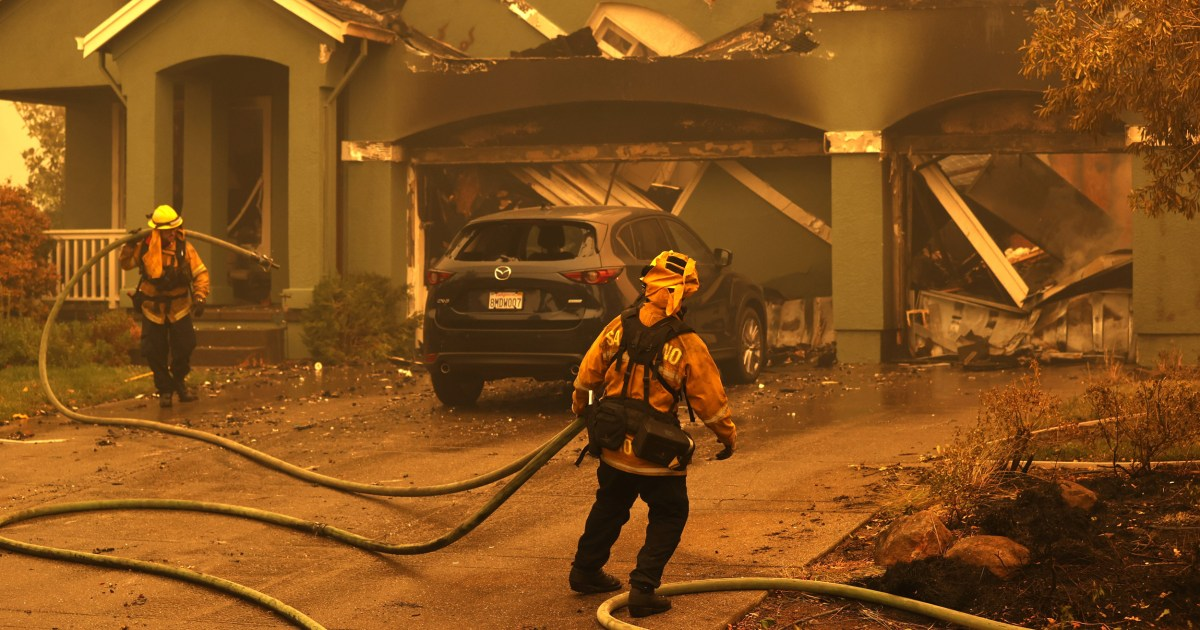 Drone video captures the devastation left behind by the fires in California wine country – NBC News