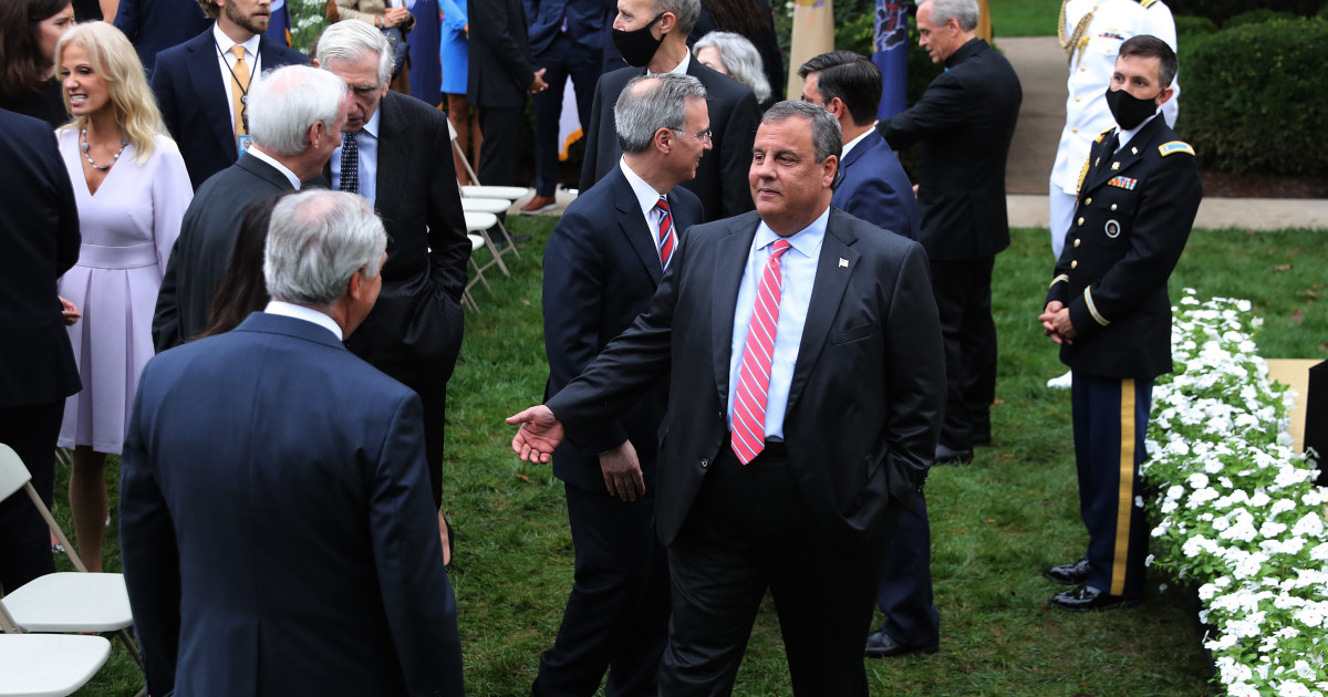 Chris Christie in hospital after being diagnosed with Covid-19