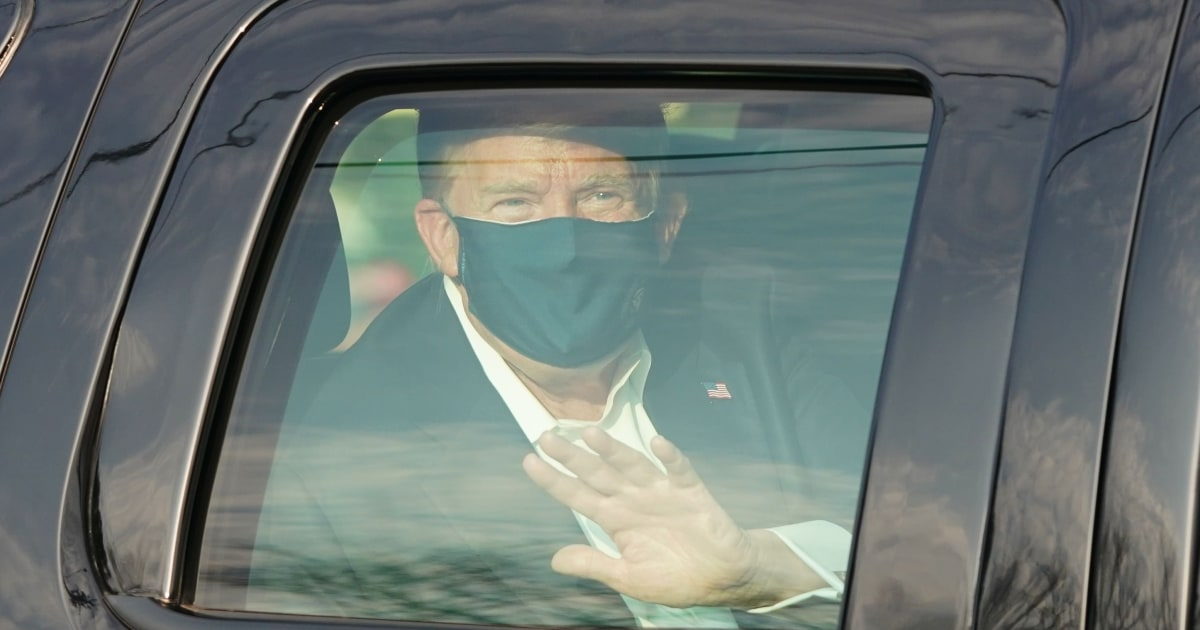 Trump criticized by medical experts after leaving hospital to drive by supporters
