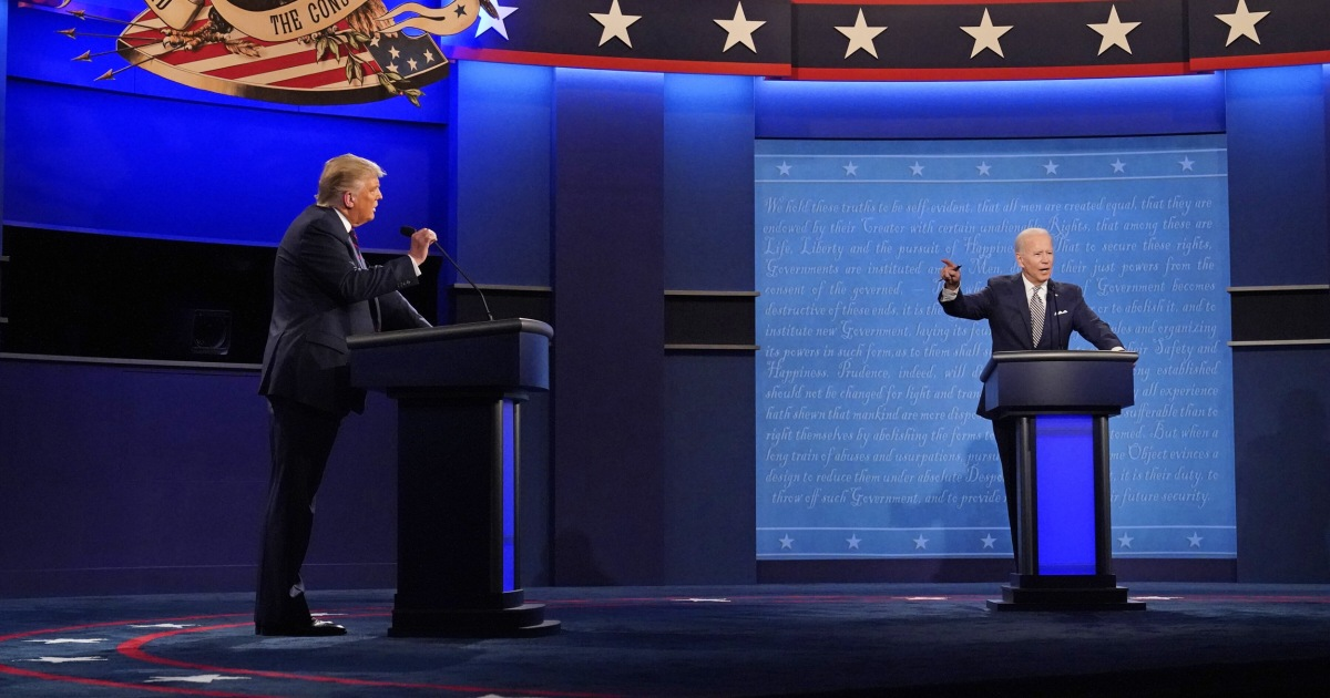 Trump and Biden will have mics cut during opponent's answers in final debate