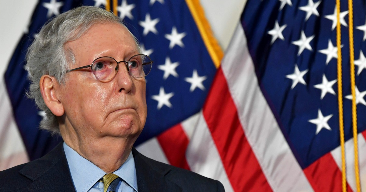 Senate pivots to Covid stimulus vote after McConnell misjudges Supreme Court push