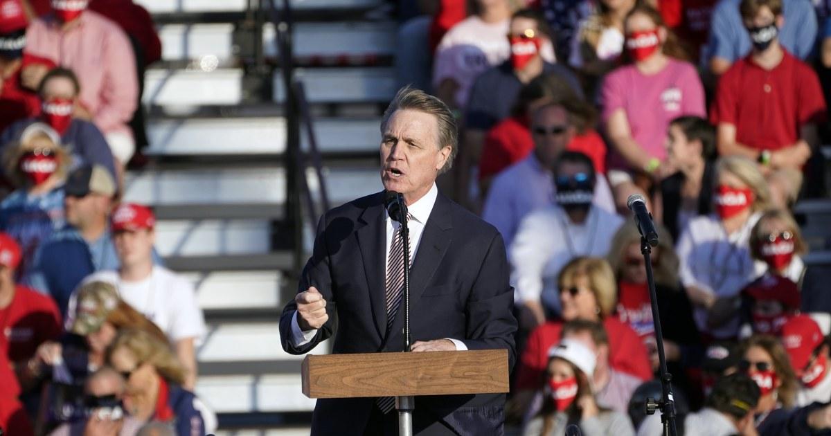 Sen. Perdue appears to mock Kamala Harris' name at Trump rally – NBC News