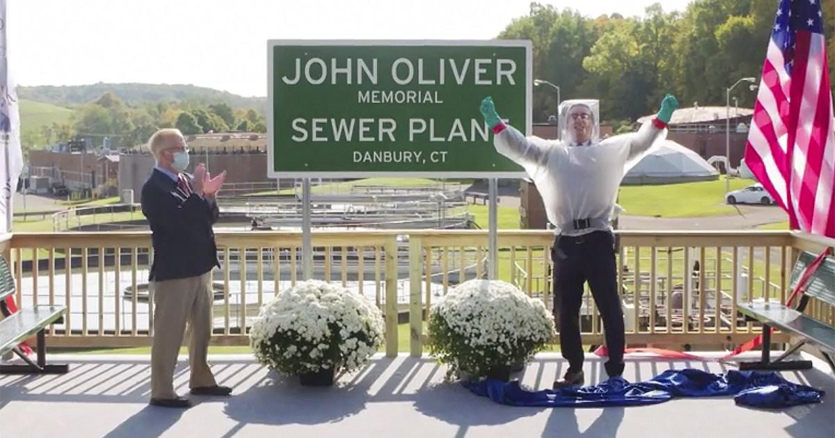 Connecticut town renames sewage plant after John Oliver.