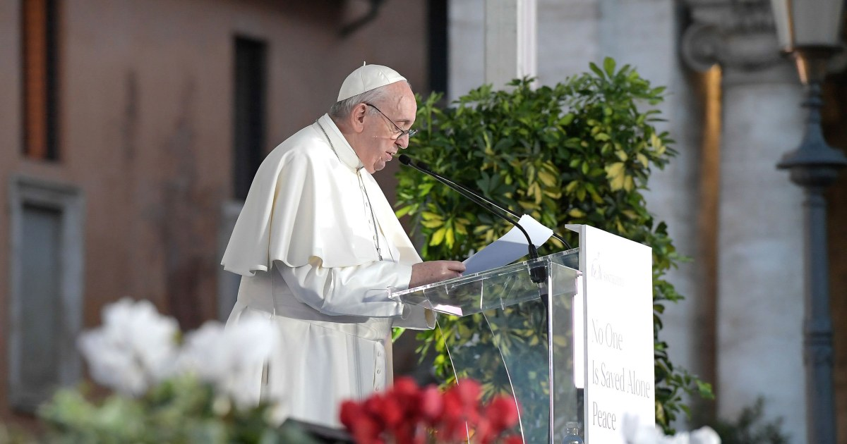 Pope calls for civil unions for same-sex couples, in major departure from Vatican doctrine