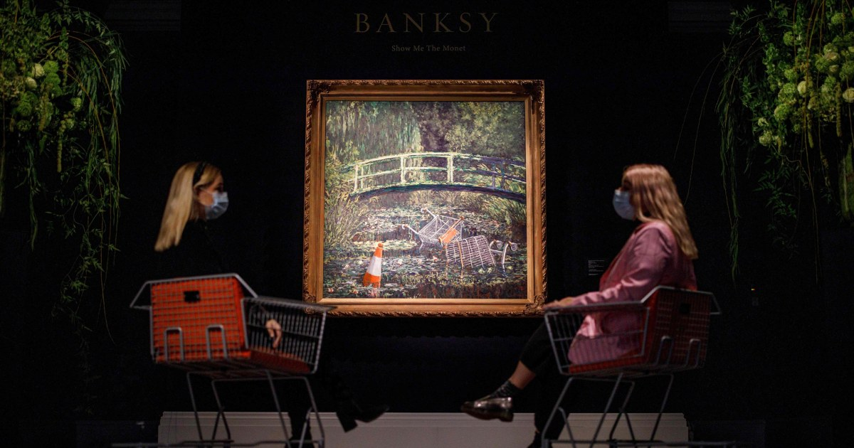 Banksy artwork 'Show Me the Monet' sells for almost $10 ...