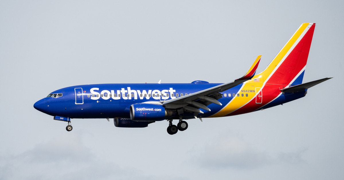Southwest Airlines to start unblocking middle seats for holiday travel - NBC News
