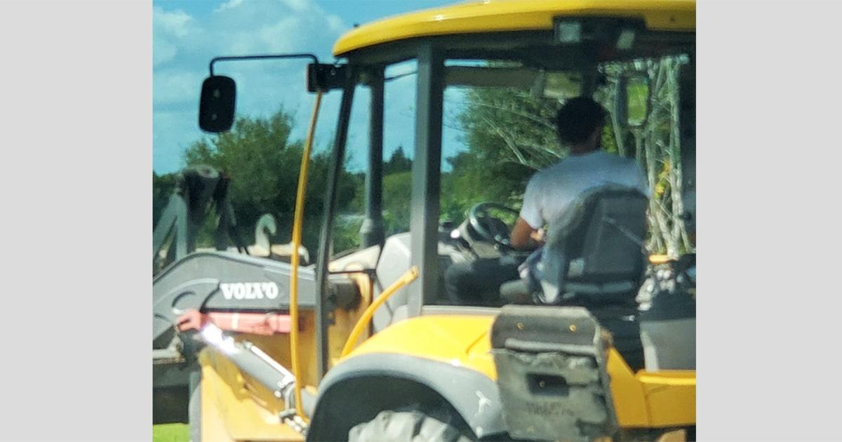 Bulldozer thief drove through Florida town allegedly digging up Biden-Harris campaign signs