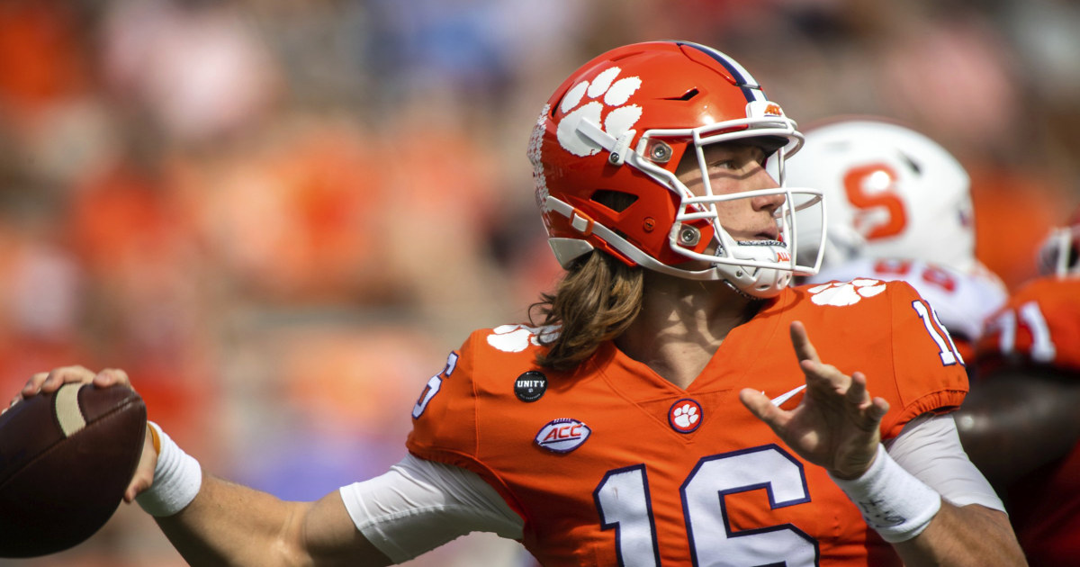 Clemon QB Trevor Lawrence tests positive for Covid, forced to sidelines