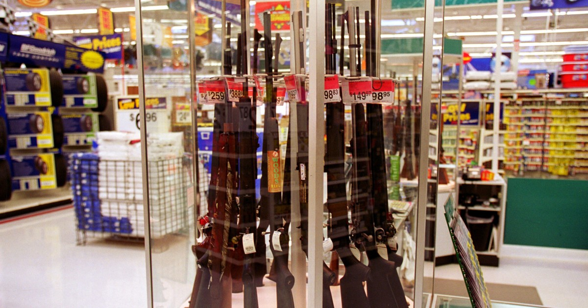 Walmart reverses decision to remove guns and ammo from store shelves – NBC News