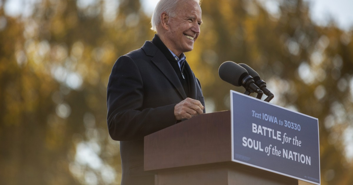Biden leads Trump by 10 points in final pre-election NBC News/WSJ poll