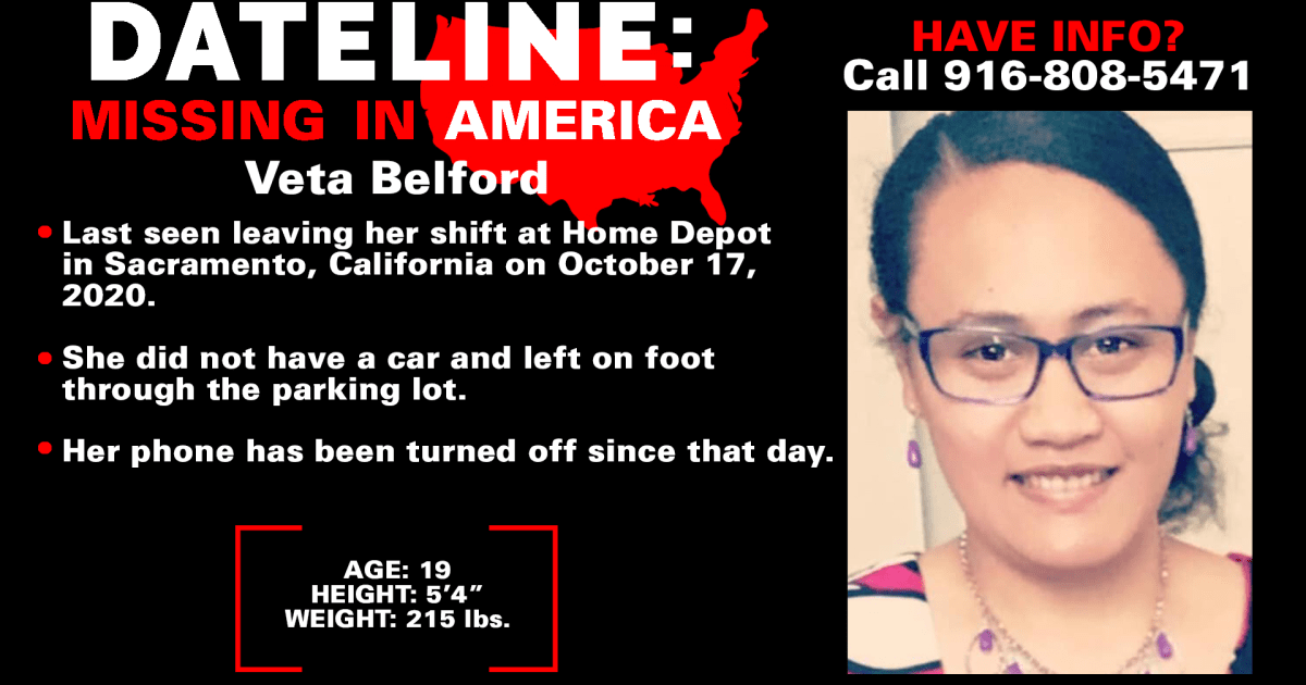 No trace of 19-year-old woman two weeks after she disappeared from Home Depot in Sacramento