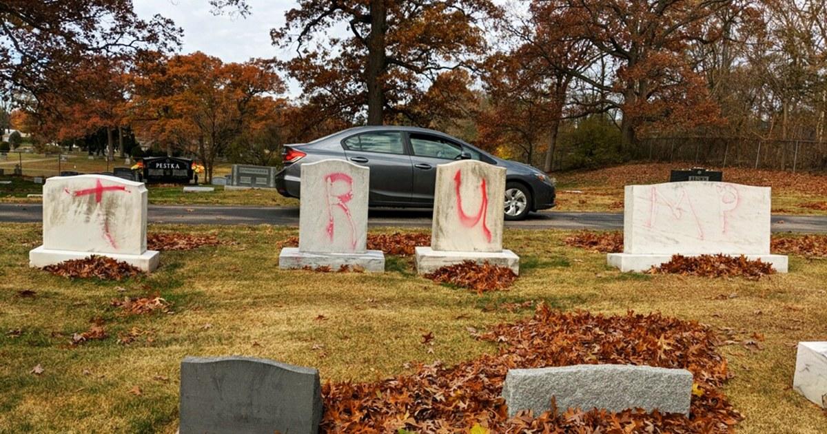 'Trump' 'MAGA' graffiti defaces Jewish cemetery in Michigan – NBC News