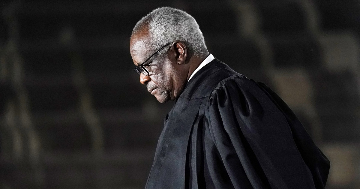Justice Thomas poses mask mandate question…