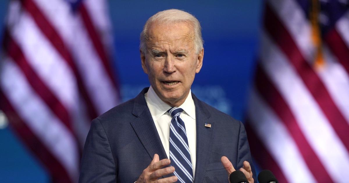 President-elect Joe Biden calls Trump's failure to concede 'an embarrassment'