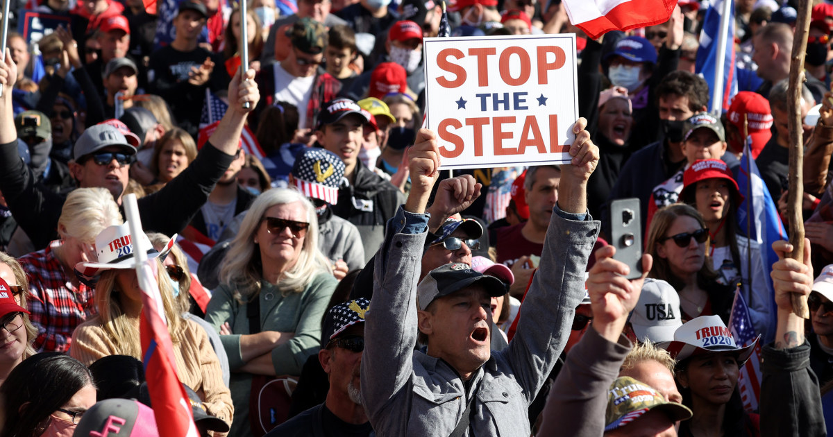 Thousands of Trump supporters gather in Washington, falsely claim election fraud