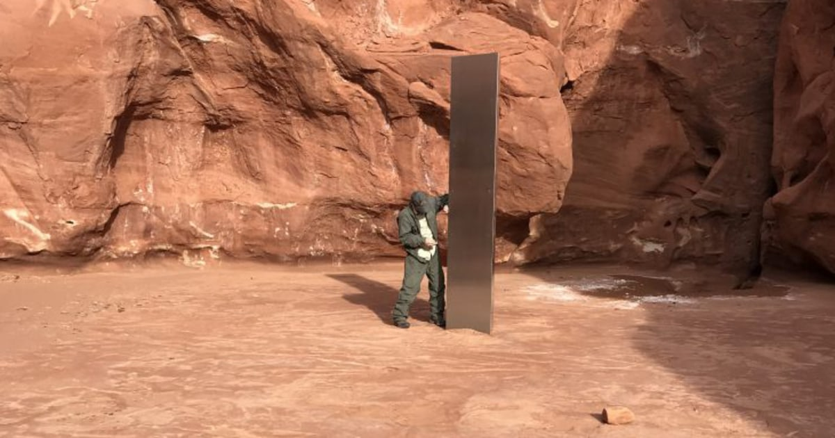 Artist or aliens? Mystery surrounds Utah monolith`s appearance...