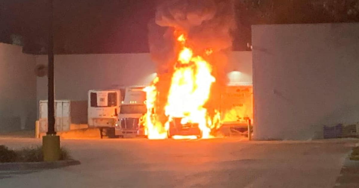 Florida Walmart evacuated after Black Friday parking lot fire