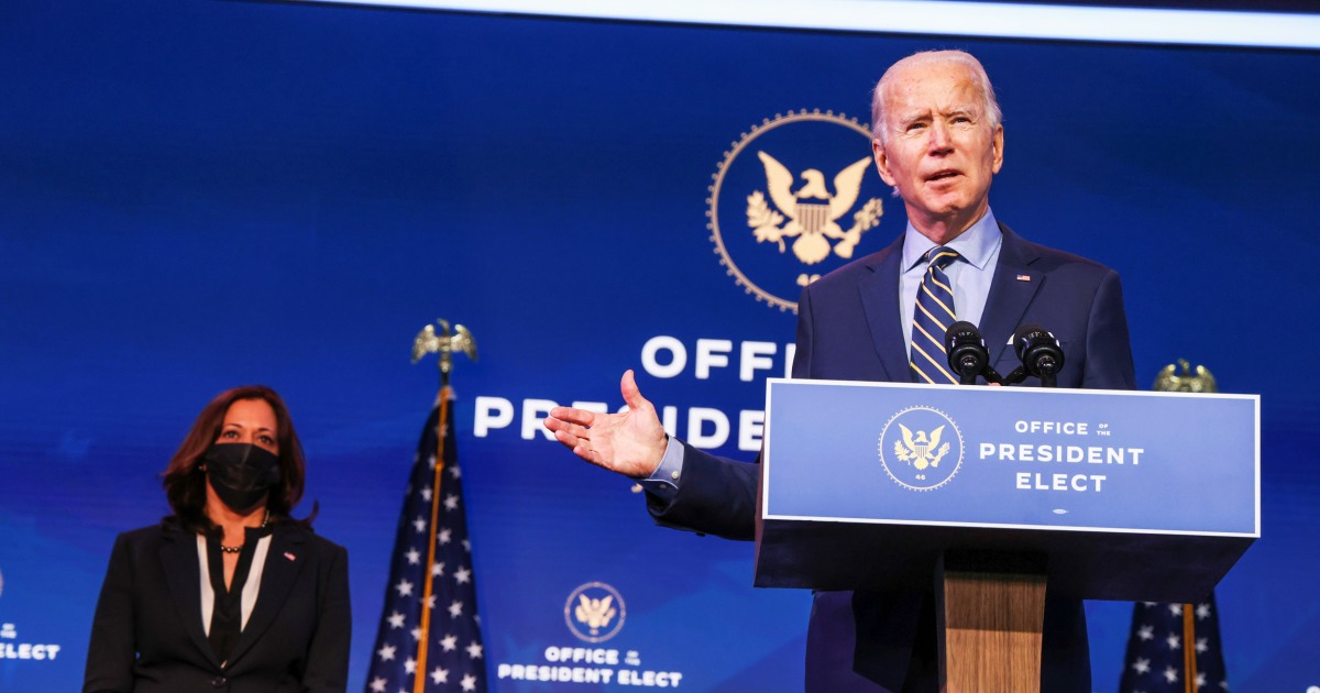 Biden to attack Trump admin for slow pace of Covid vaccinations – NBC News