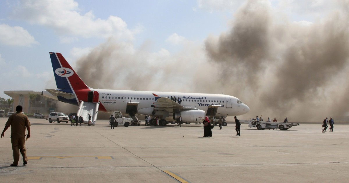 Blast gunfire in Yemen after plane carrying new government lands 16 killed – NBC News