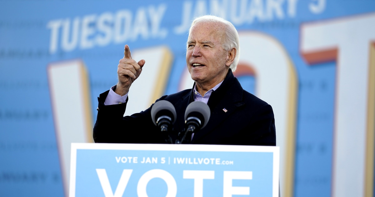 On eve of Georgia Senate vote Biden says races will 'chart course' of 'next generation' – NBC News