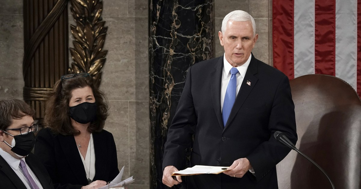 Pence to attend Biden inauguration; Trump never called him in the Capitol bunker sources say – NBC News