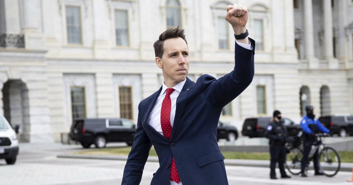 Sen. Josh Hawley becomes public enemy No. 1 on Capitol Hill – NBC News