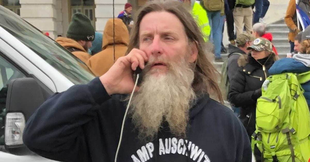 Man in 'Camp Auschwitz' shirt photographed at U.S. Capitol riot arrested in Virginia – NBC News