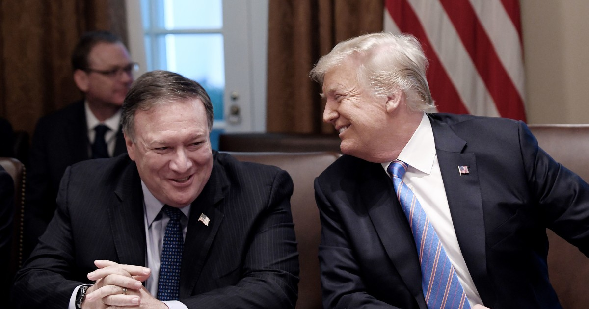 As Trump's top diplomat, Pompeo sought to position himself as the president's successor