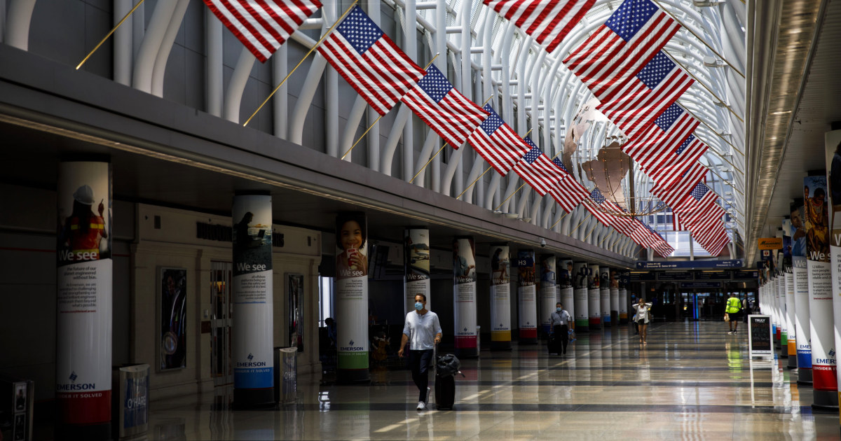 Man hid 3 months at Chicago airport due to Covid fears - NBC News
