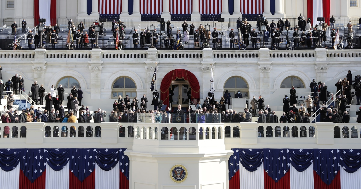 All circumstance and less pomp, Biden inauguration strikes a somber tone