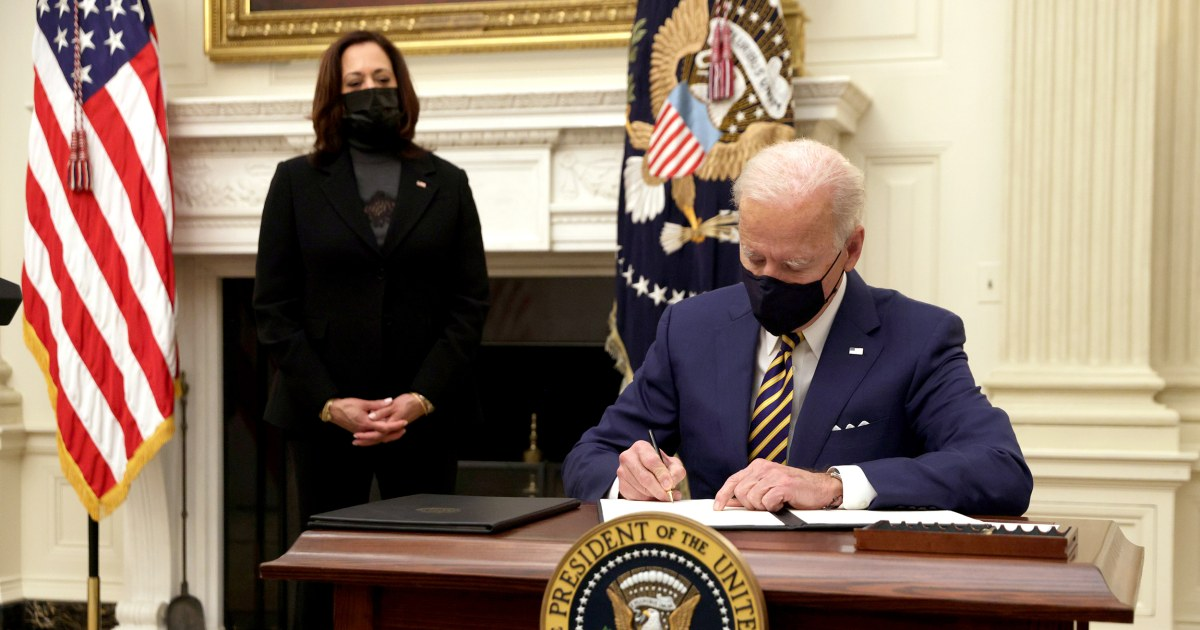 Here's the full list of Biden's executive actions so far thumbnail