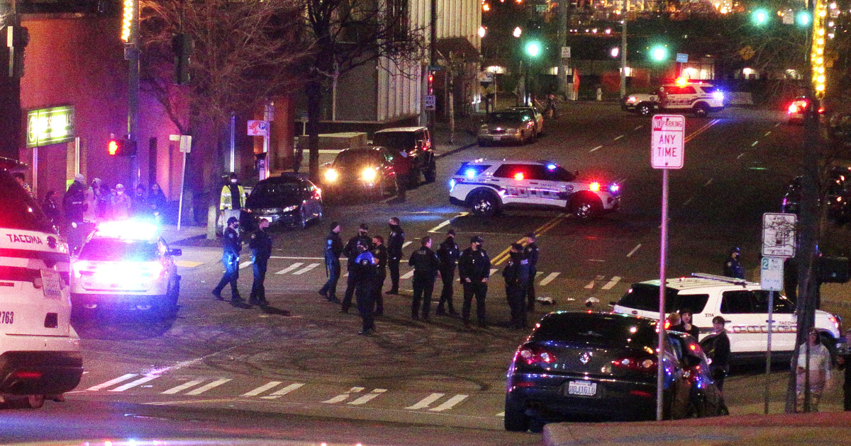 Video shows Tacoma police vehicle drive through crowd, run over at least 1 person