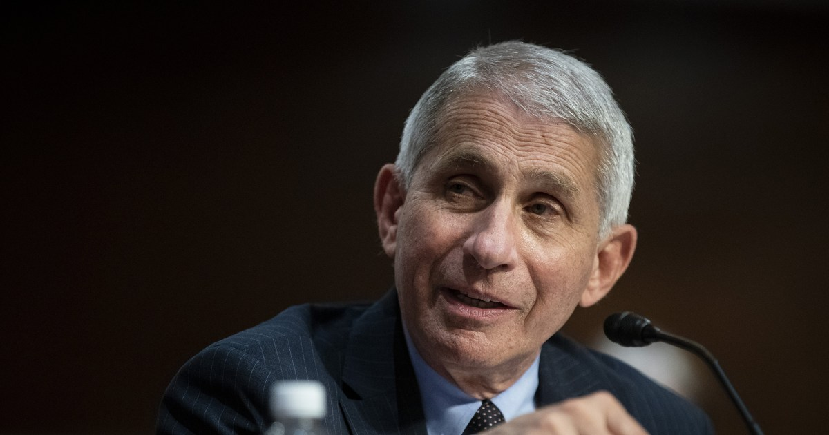 Fauci says drop in Covid cases not due to vaccine: 'We don't want to get complacent' – NBC News