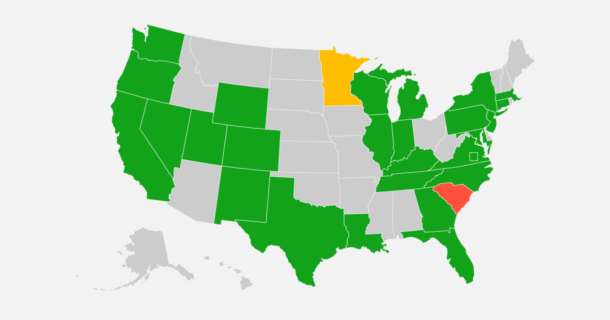 Map: Track the spread of the Covid-19 variants across the United States