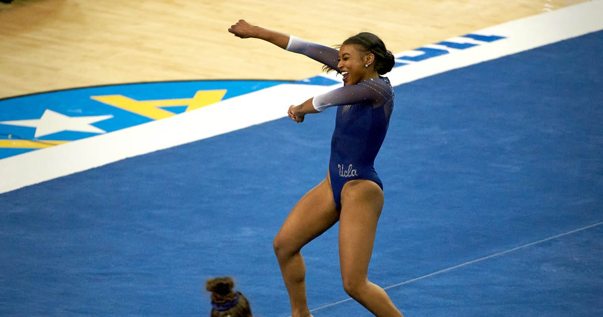 Meet UCLA gymnast Nia Dennis, who went viral after 'Black excellence' floor routine