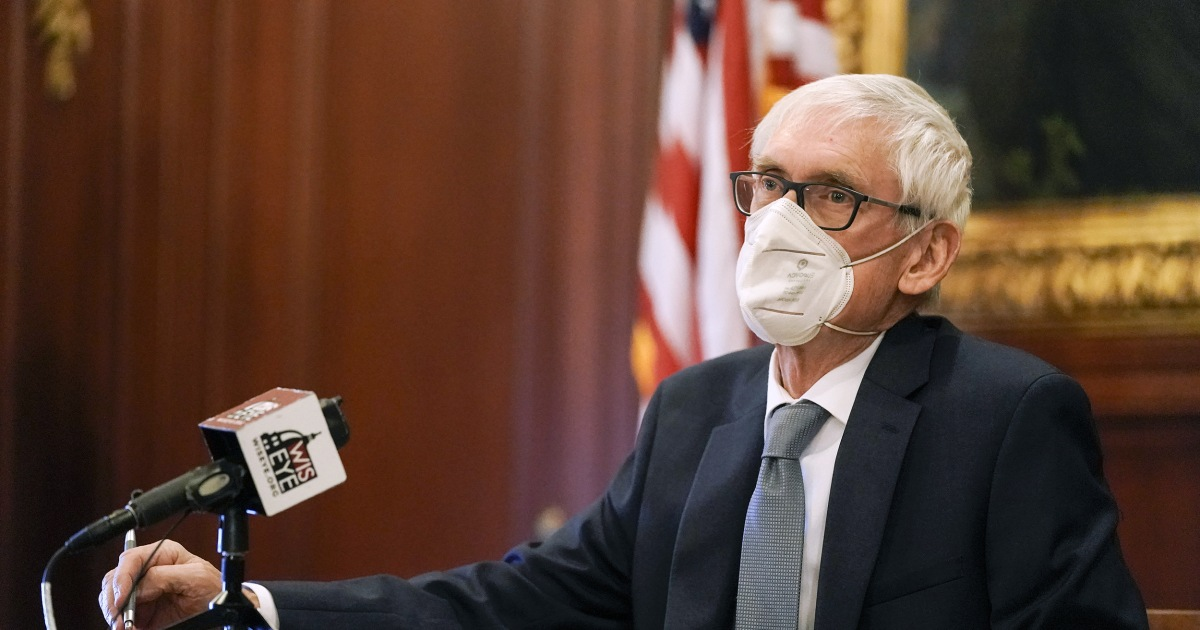 Wisconsin's Legislature repealed Gov. Tony Evers' mask mandate. He issued a new one. - NBC News